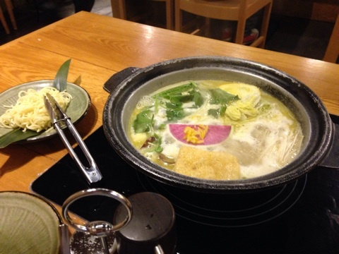 野菜とシメの麺