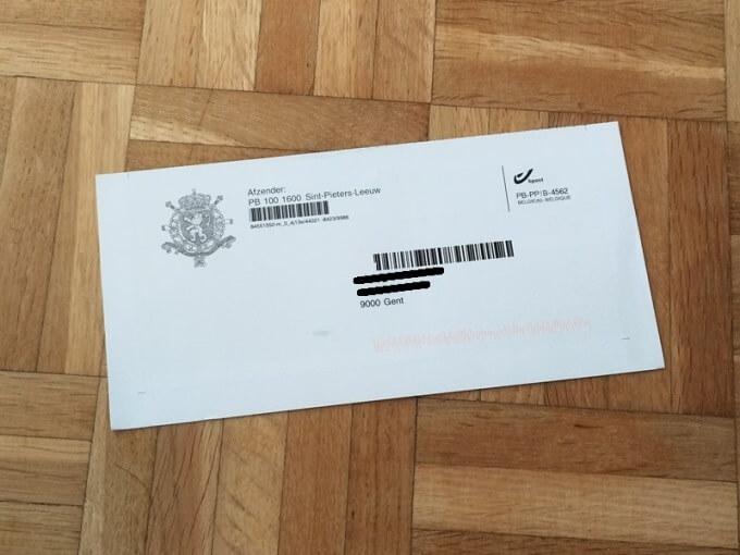 労働許可証受け取りの招待状