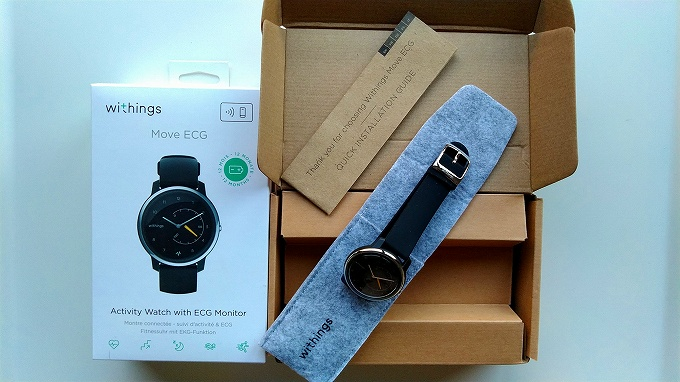 Withings Move ECGの箱の中身