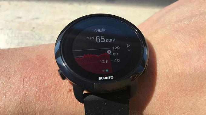 Suunto 3 Fitness腕時計上で見る心拍数グラフ