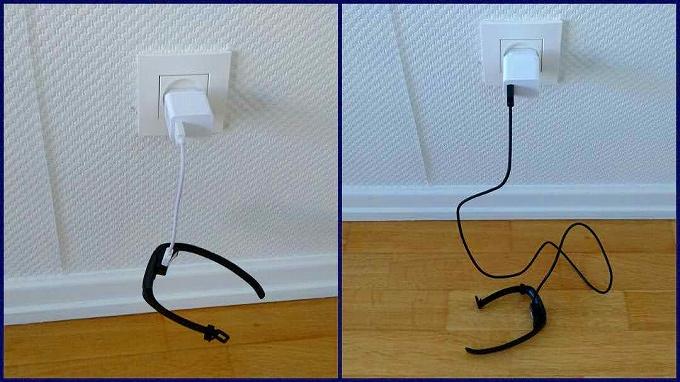 充電器と充電ケーブルの長さ比較