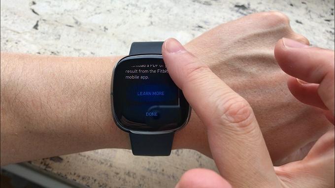 Fitbit ECGアプリの終了方法