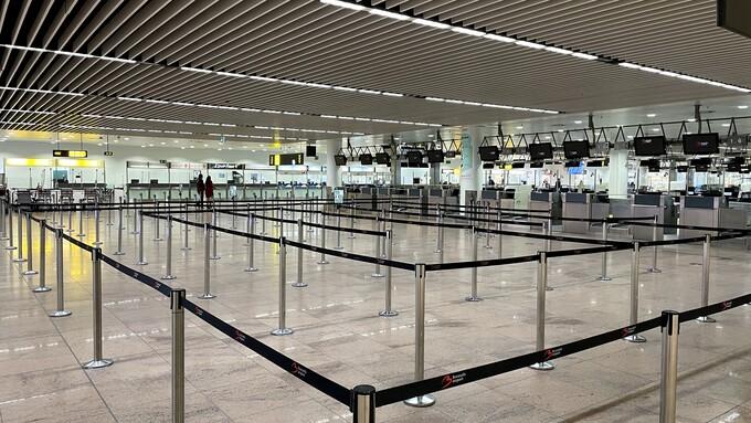 ブリュッセルザベンテム空港出発エリアの様子