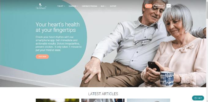 FibriCheck 公式ウェブサイト
